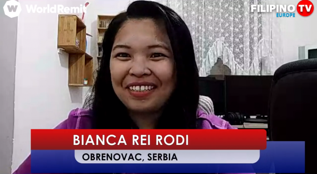 Bianca Rei at Filipino TV Europe